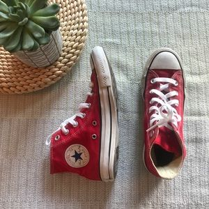 Converse chuck Taylor red high top sneakers  6.5